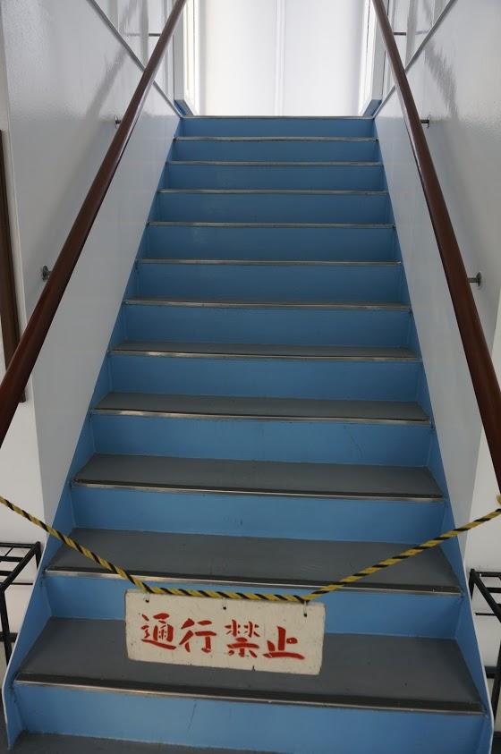 小豆島土庄港のフェリー第二しょうどしま丸屋外デッキ通行禁止