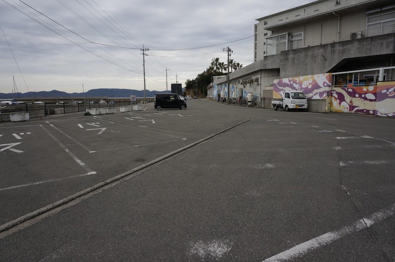 小豆島 エンジェルロードの駐車場