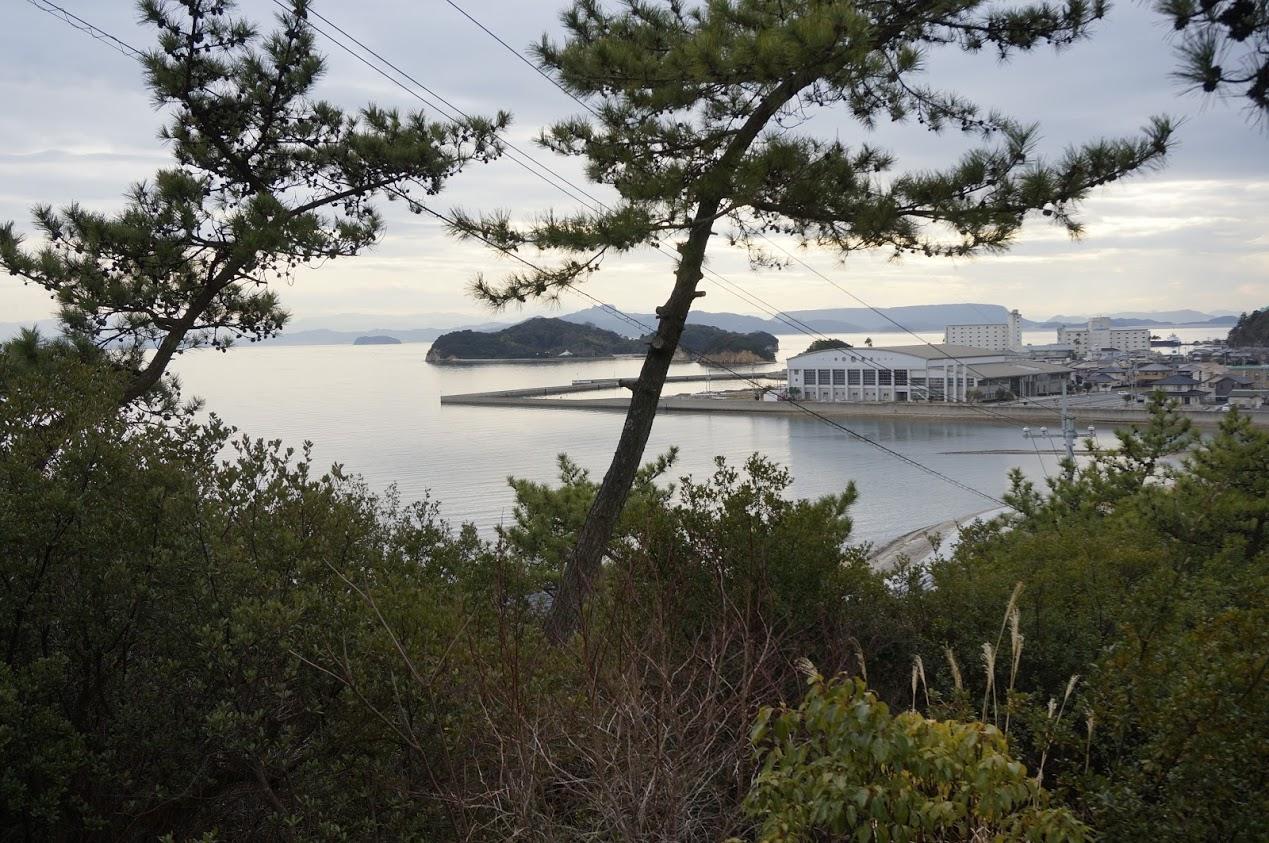 小豆島 富丘八幡神社から見るエンジェルロード