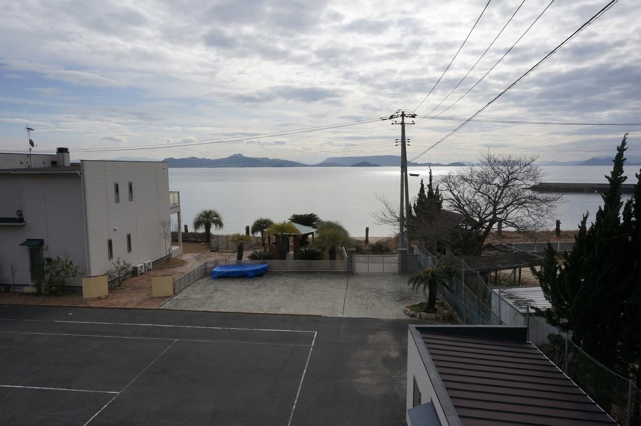 小豆島 県道254号線千軒海水浴場前