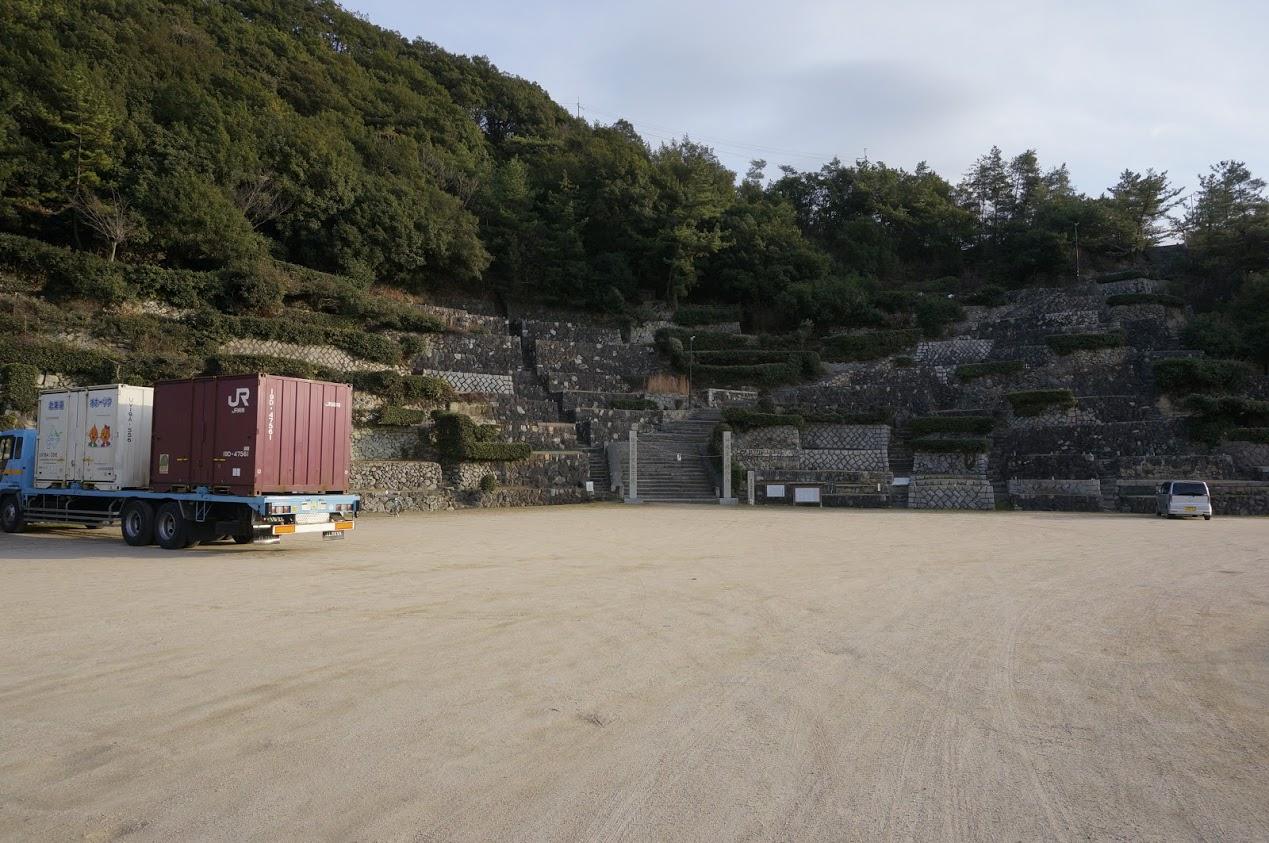 小豆島富丘八幡神社の桟敷