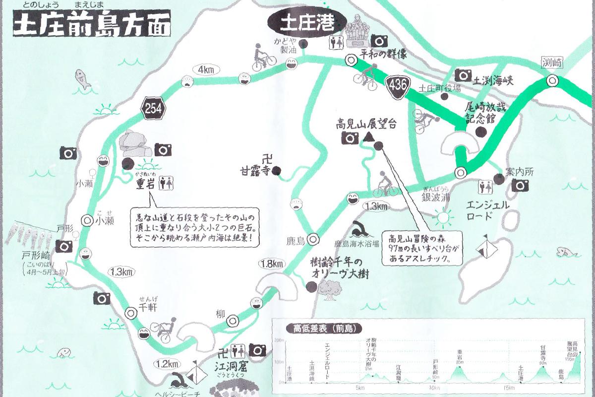 土庄前島の地図