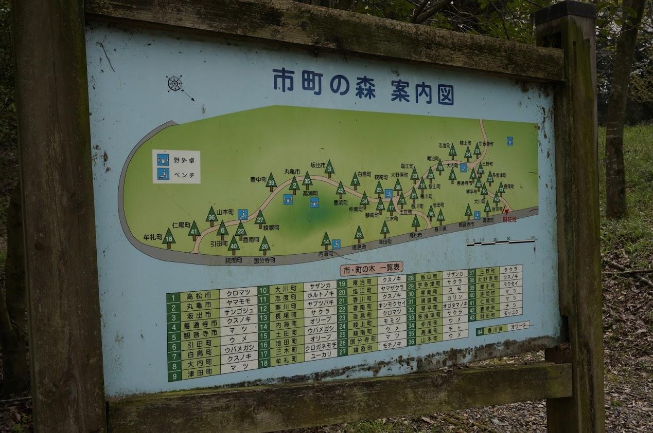満濃池森林公園市町の森案内図