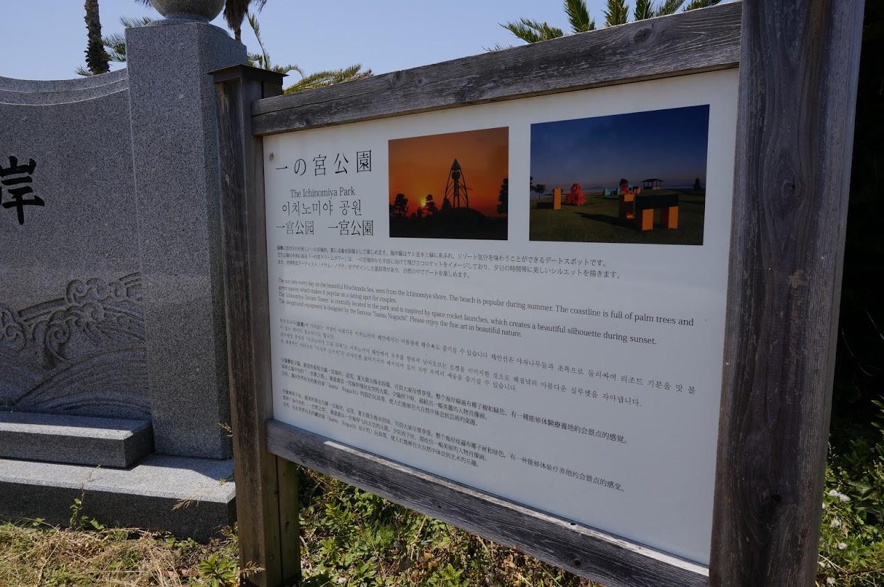 一の宮公園の案内板