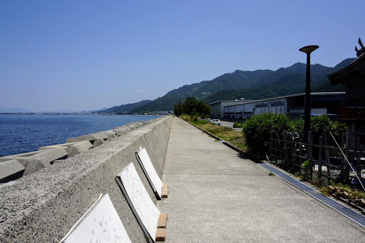 道の駅とよはまから見る讃岐山脈