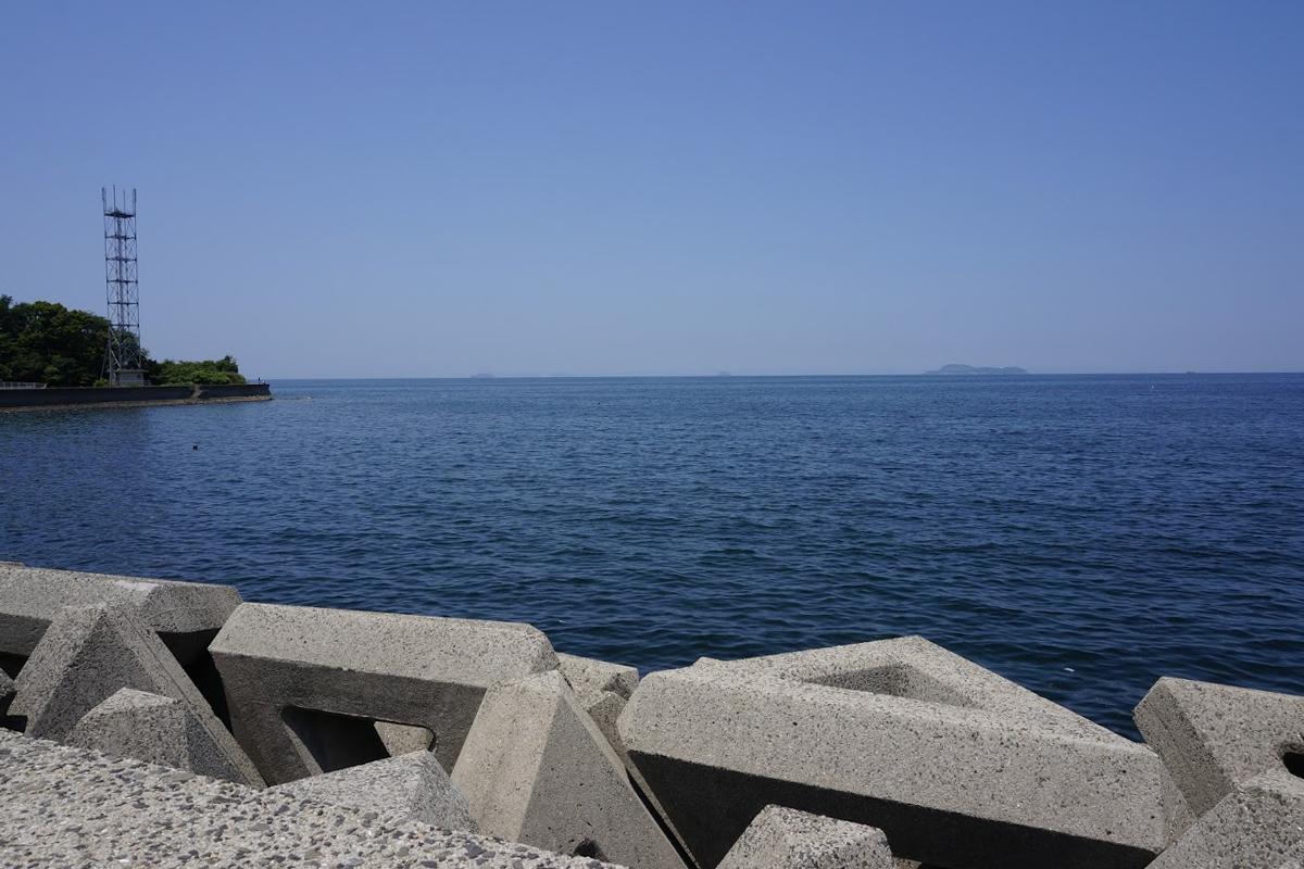 道の駅とよはまから見る伊吹島