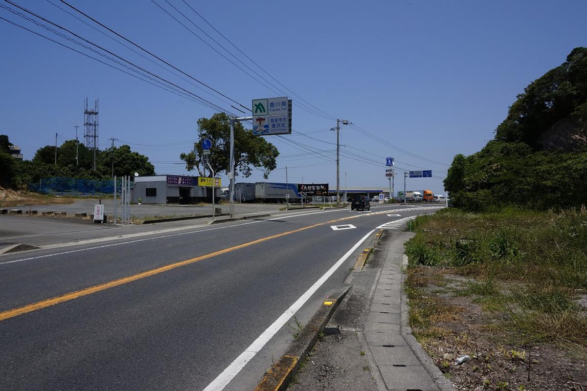 愛媛県四国中央市 国道11号線香川県境