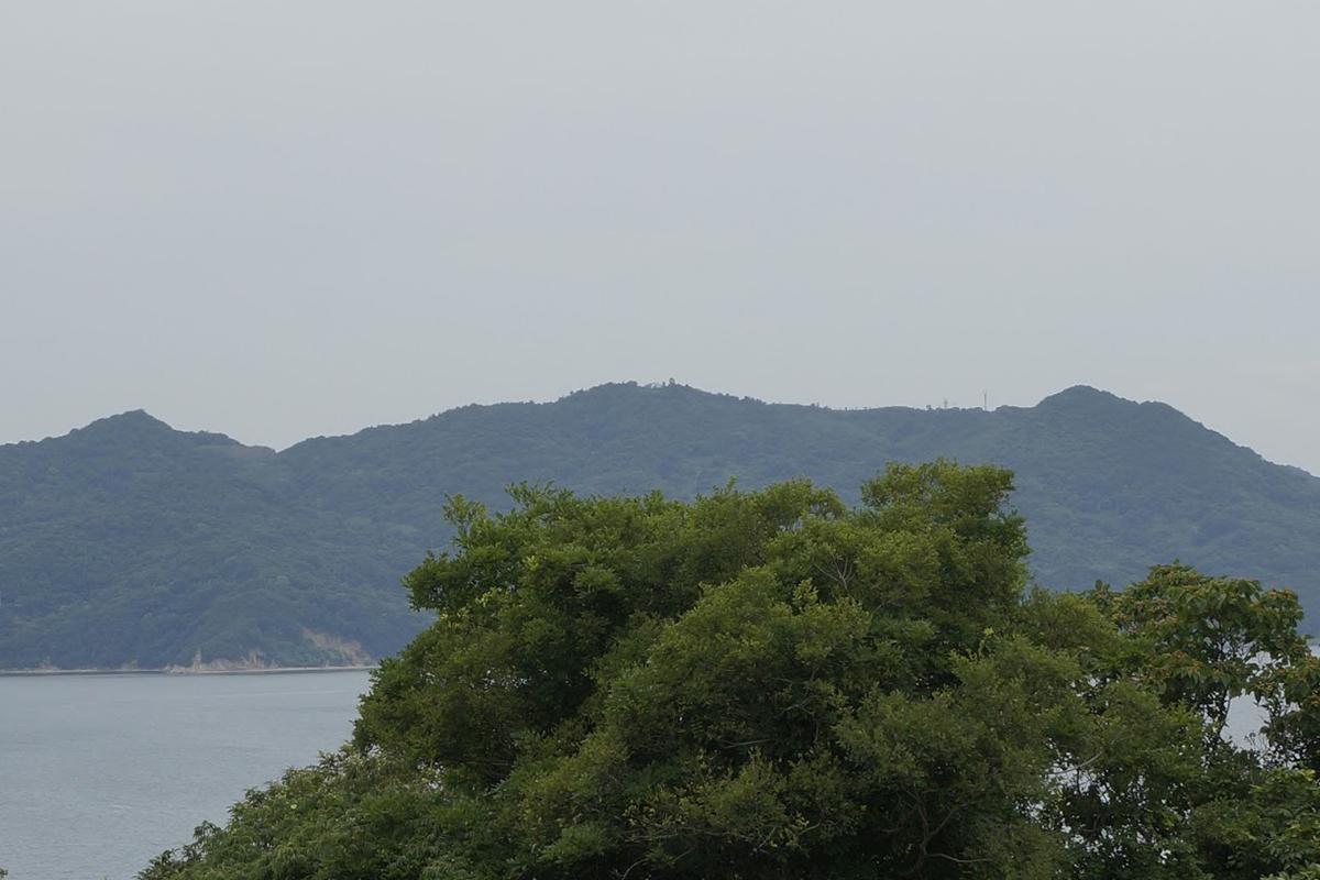 テアトロンから見るあじ竜王山公園ウォッチタワー