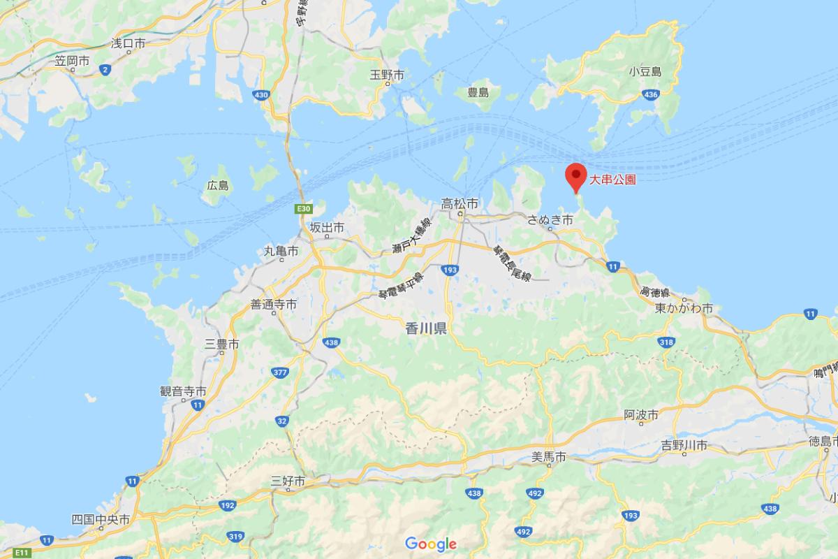 大串半島の場所