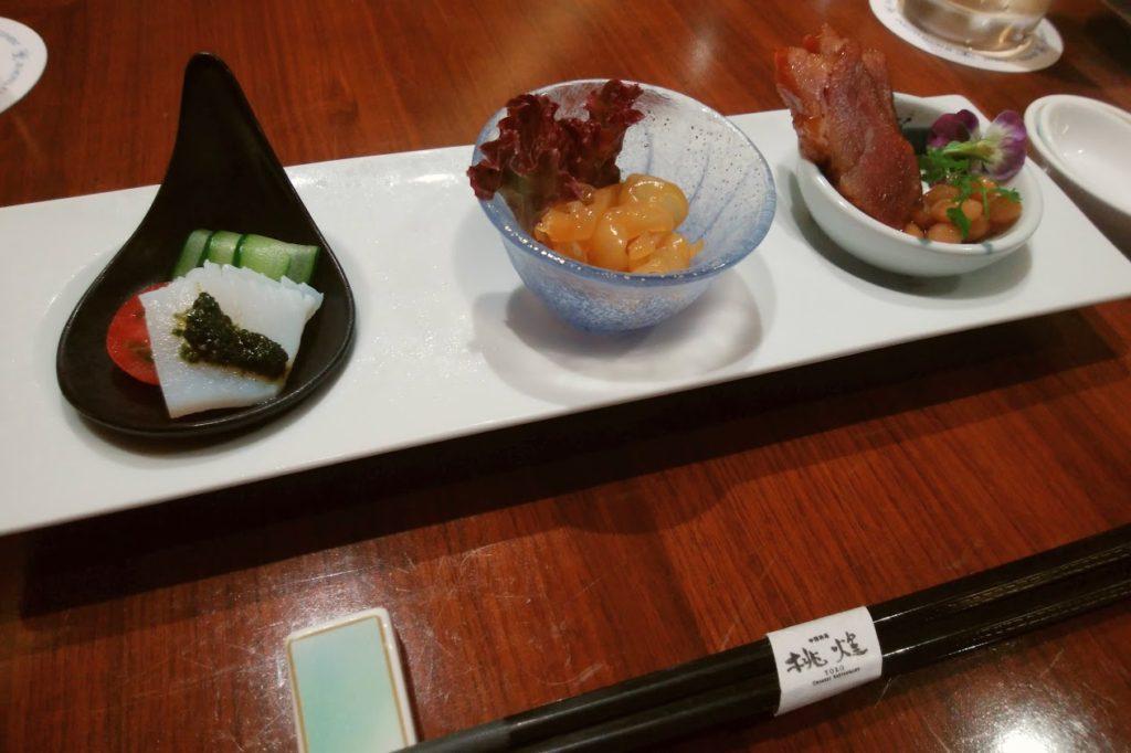 JRクレメント高松2F桃煌美味いもんコース前菜