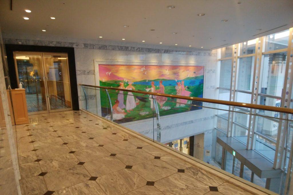JRクレメント高松高松駅側のロビー2F