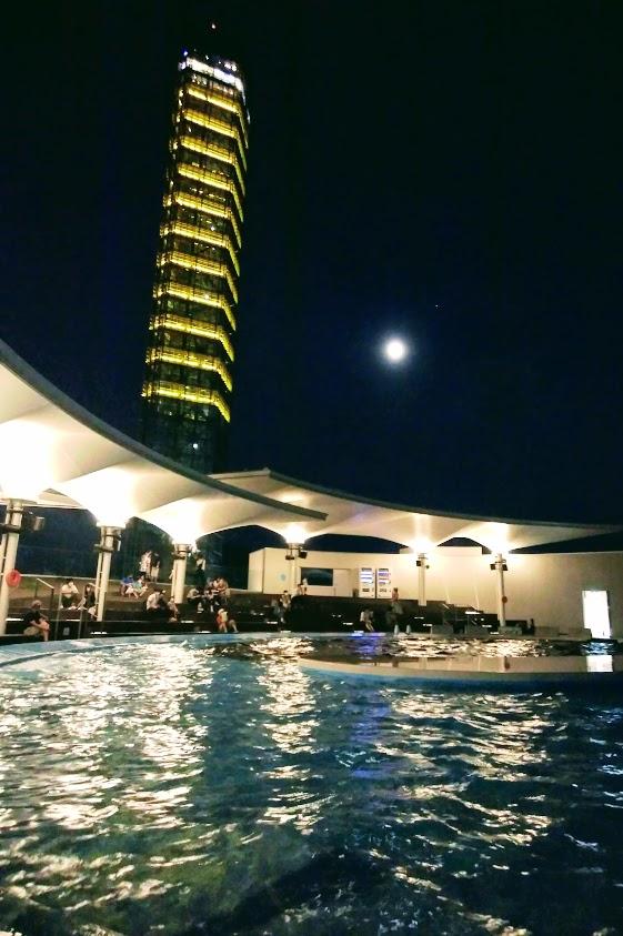 四国水族館と夜のゴールドタワー