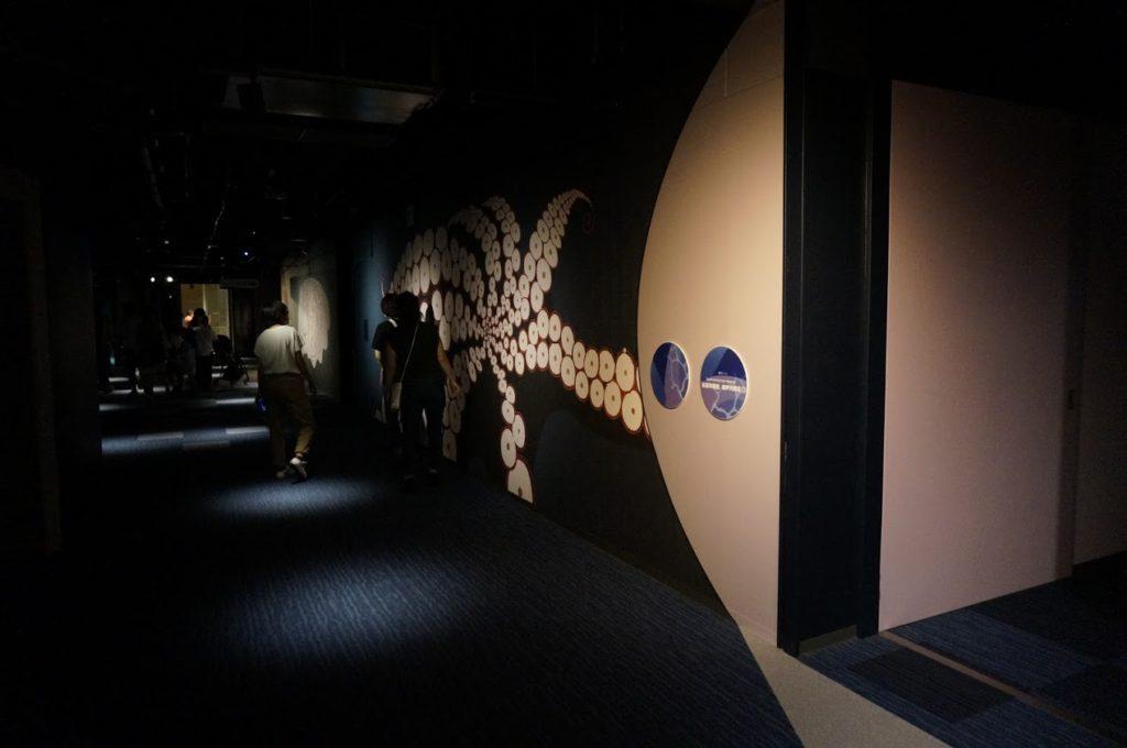 四国水族館 タコの壁画