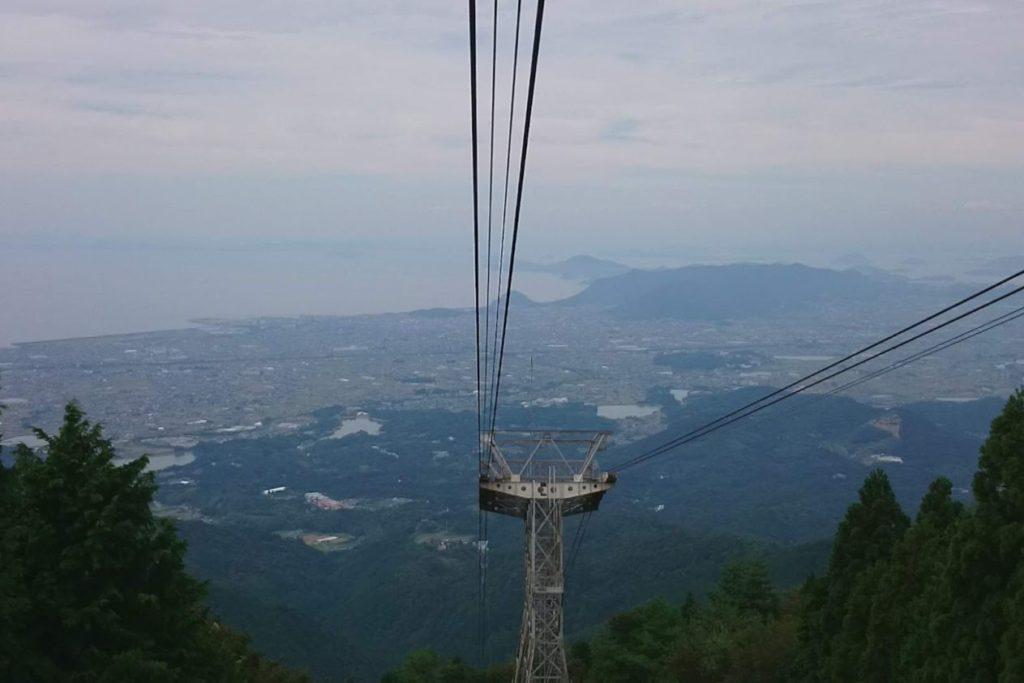 雲辺寺ロープウェイからの眺望