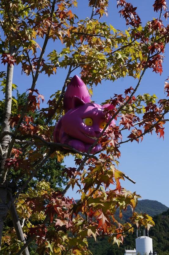 レオマオリエンタルトリップ秋の大バラまつりアリスイングリッシュローズガーデンチェシャ猫