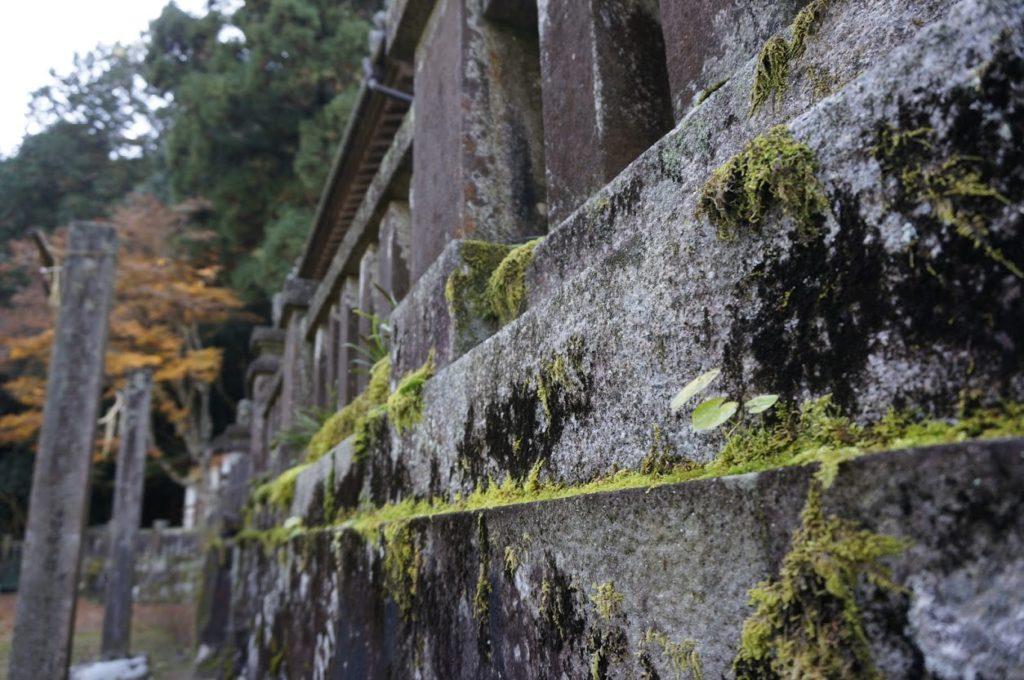 天川神社の玉垣