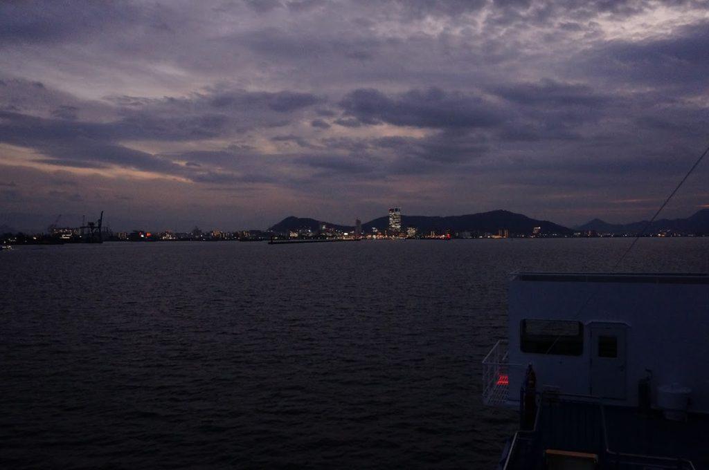 ブルーラインから高松港