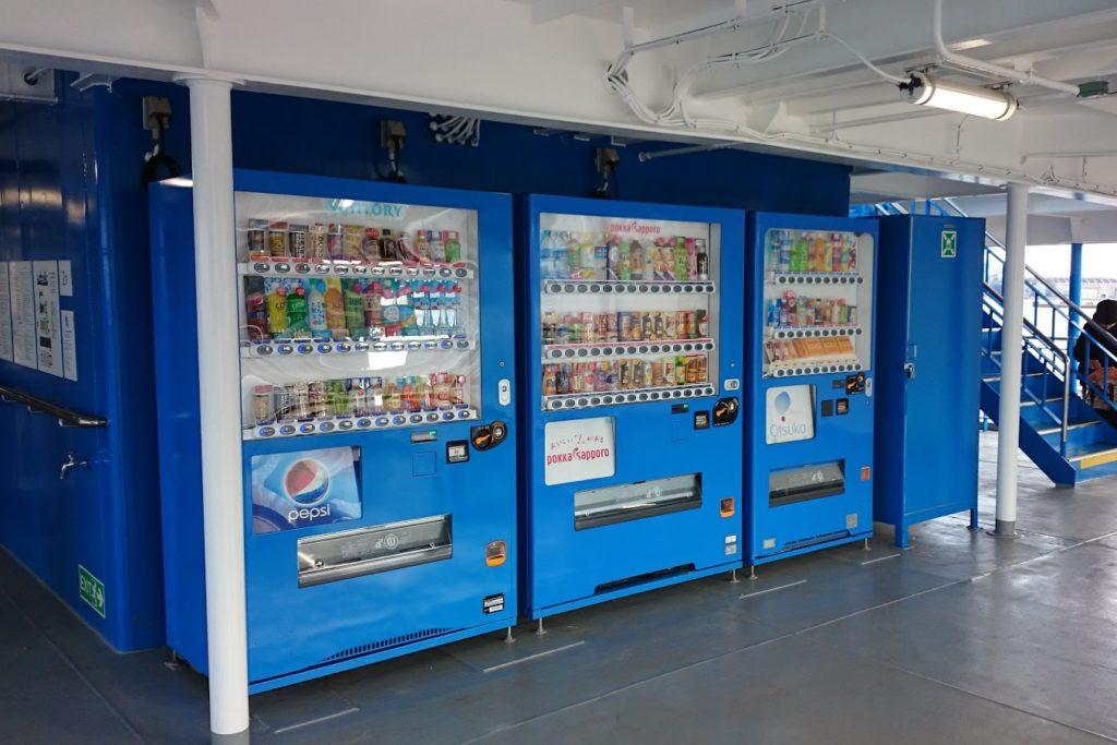 内海フェリー ブルーライン 自販機