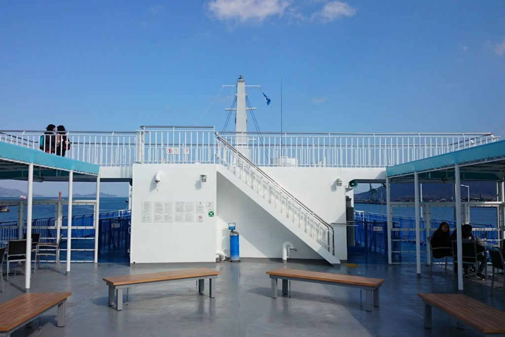 内海フェリー ブルーライン 3階デッキ