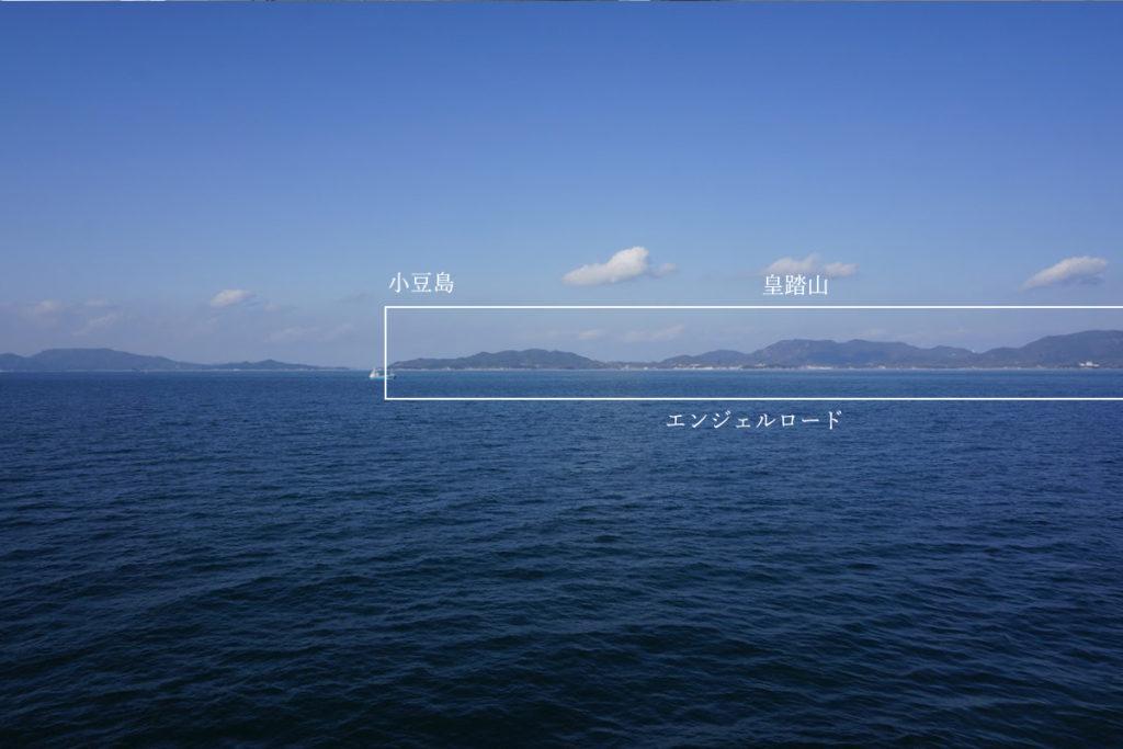内海フェリーブルーラインから小豆島東部