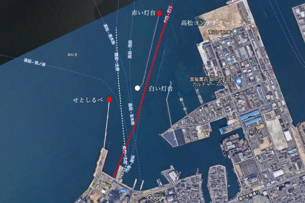 高松港出航