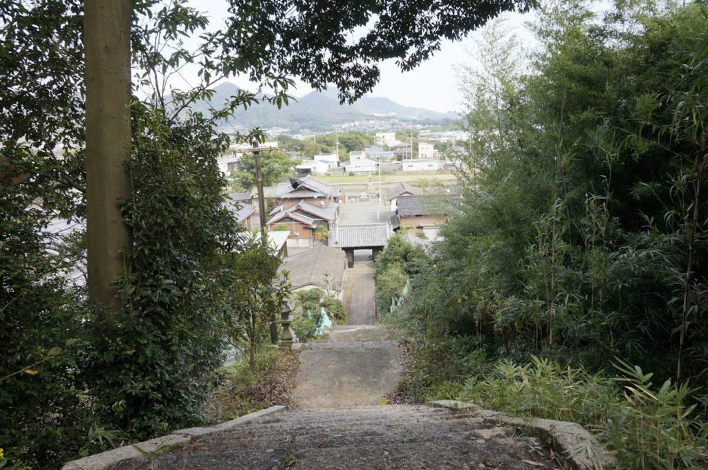 讃岐十景汐木山荒魂神社参道の鳥居