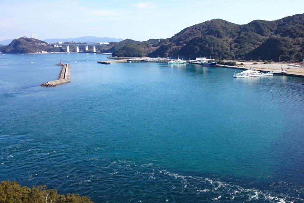 鳴門堀越橋から亀浦観光港