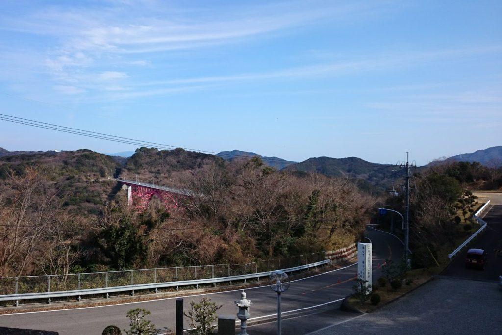 成田山徳島分院光輪寺から小鳴門橋