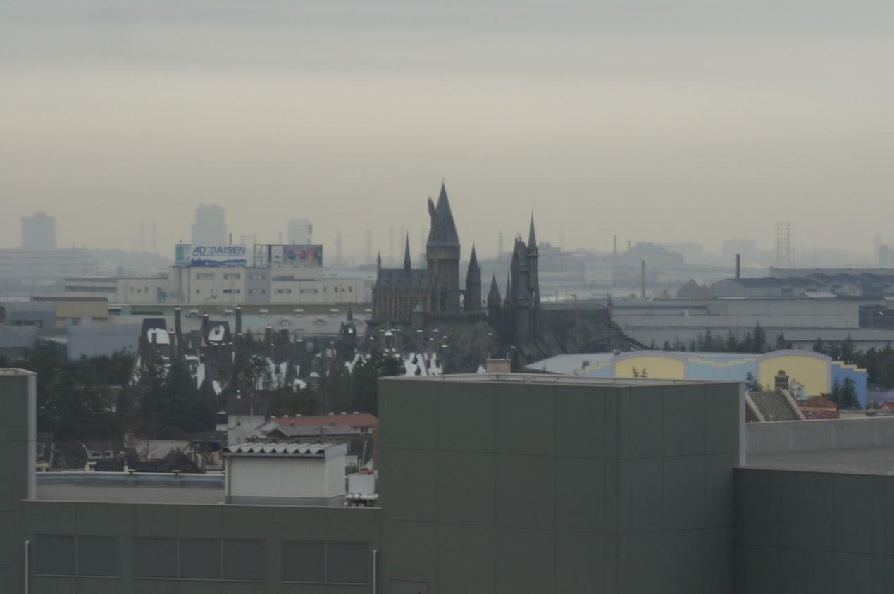 リーベルホテル アット ユニバーサル・スタジオ・ジャパン から見るホグワーツ城