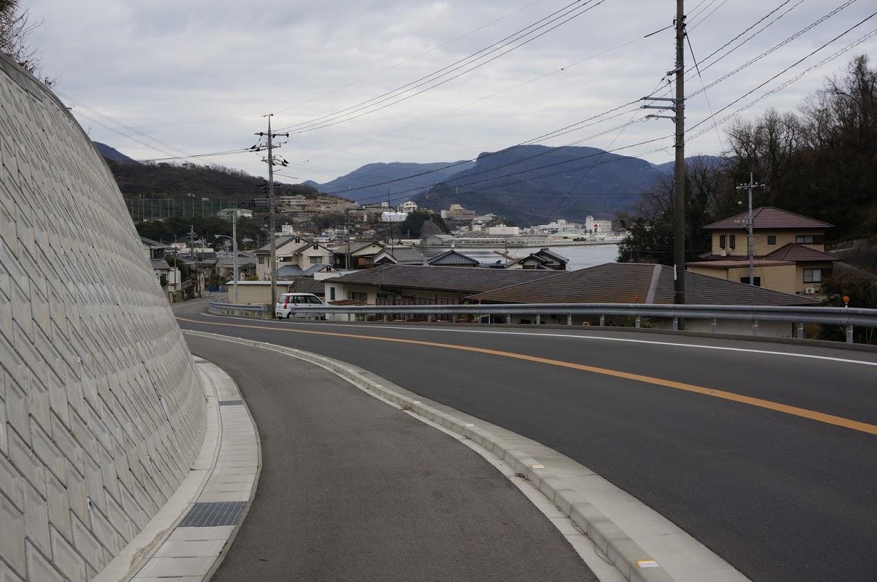 小豆島 香川県道254号線から見る鹿島地区