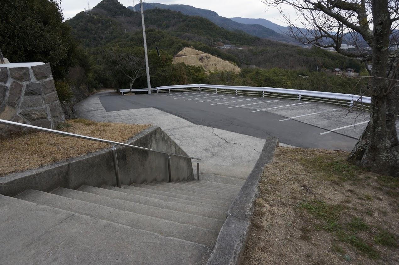 小豆島 富丘八幡神社駐車場