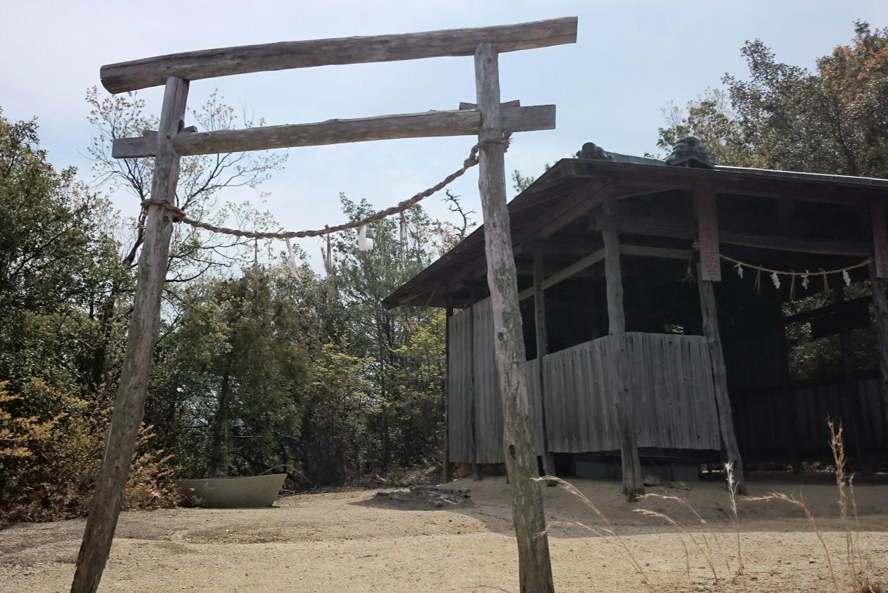 山上神社行者堂の鳥居