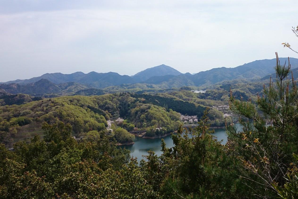 山上公園から見る門入ダム
