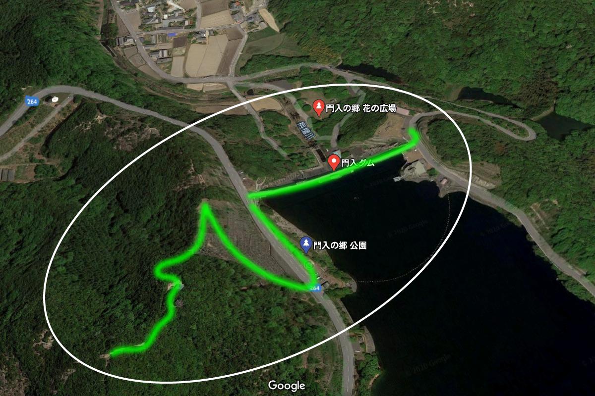 門入ダム周辺の地図