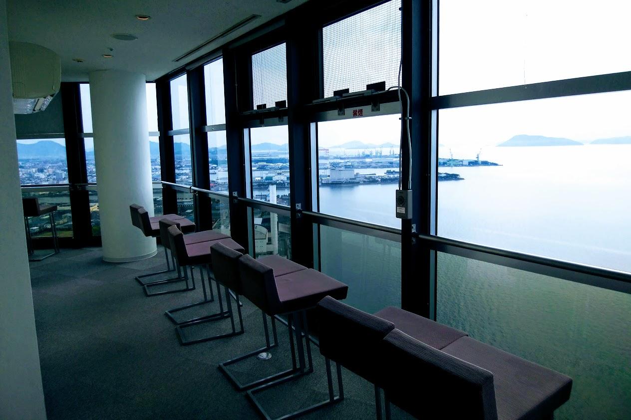 宇多津ゴールドタワー天空3Fからの眺望