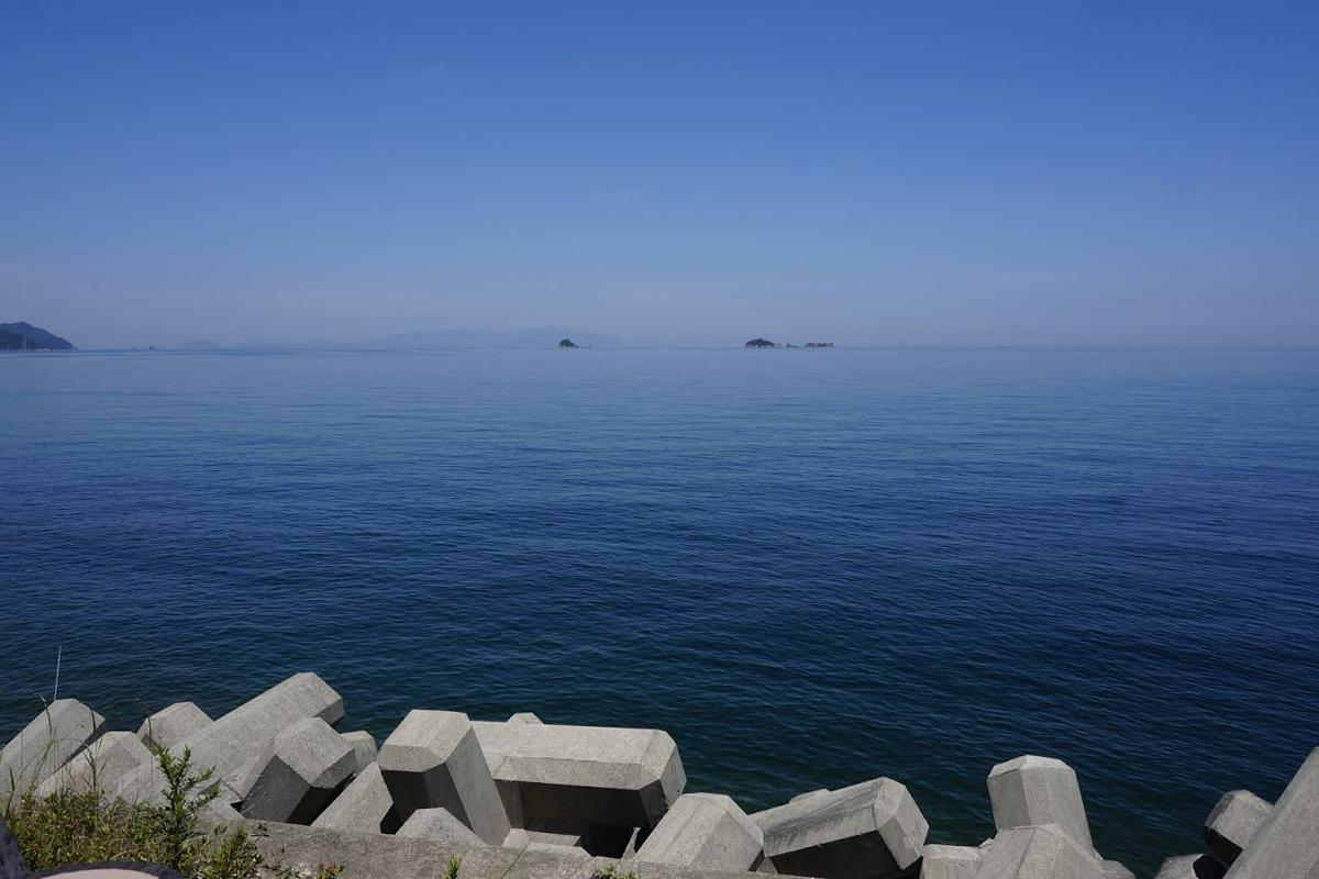 鳴門市北灘から見る瀬戸内海の島々