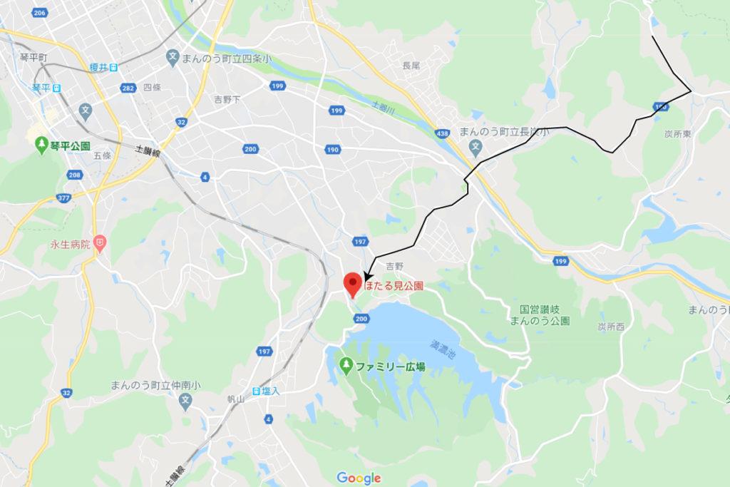 高松市から満濃池