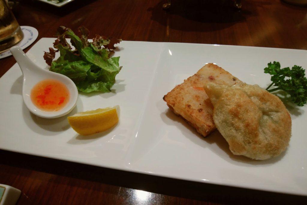 JRクレメント高松2F桃煌美味いもんコース 香川県産葱風味パイと大根餅