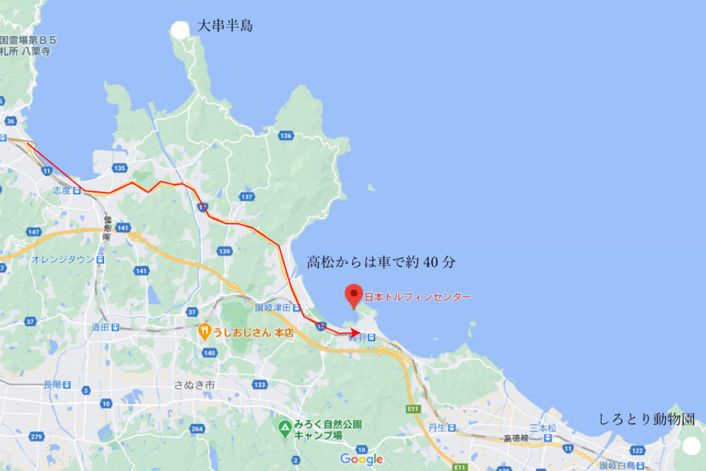 日本ドルフィンセンターの場所