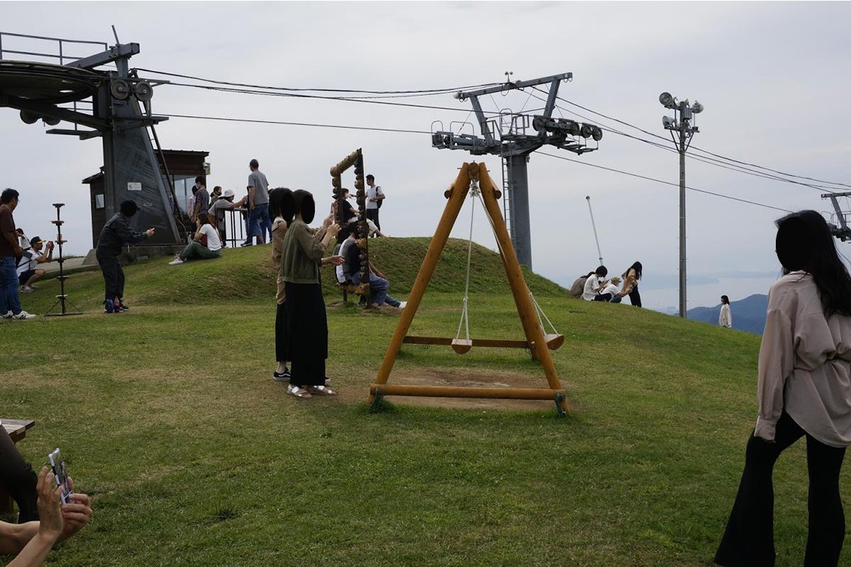 雲辺寺山頂公園のブランコ