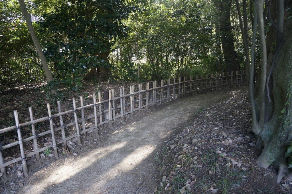 栗林公園 不動口門の裏手