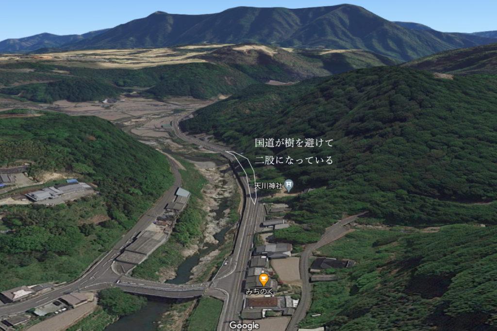 讃岐十景天川神社の場所