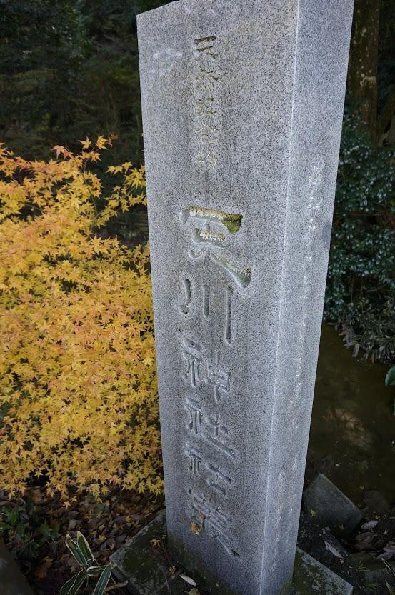 国指定天然記念物天川神社社叢の石碑