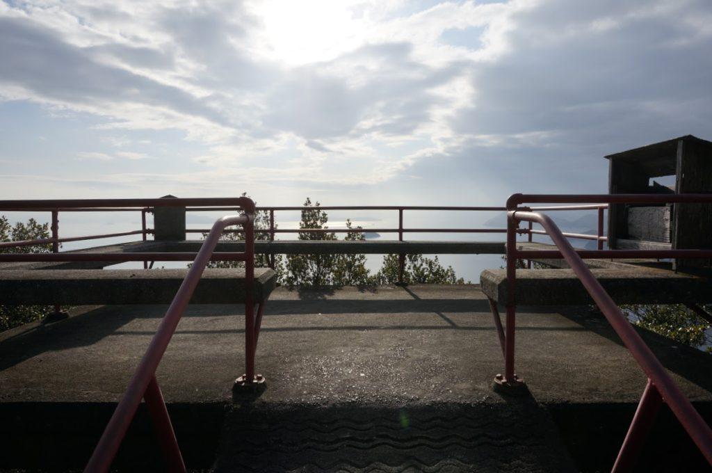 洞雲山への道 展望台