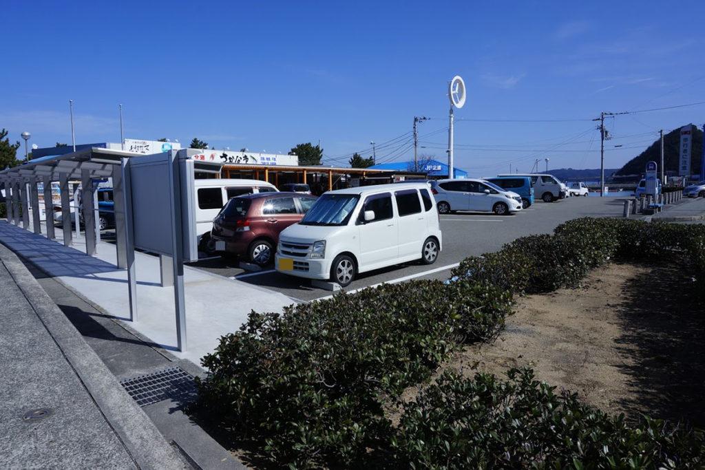きたなだ海の駅の駐車場