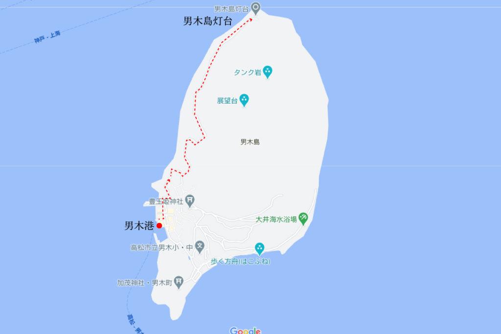 男木島灯台、水仙郷への行き方