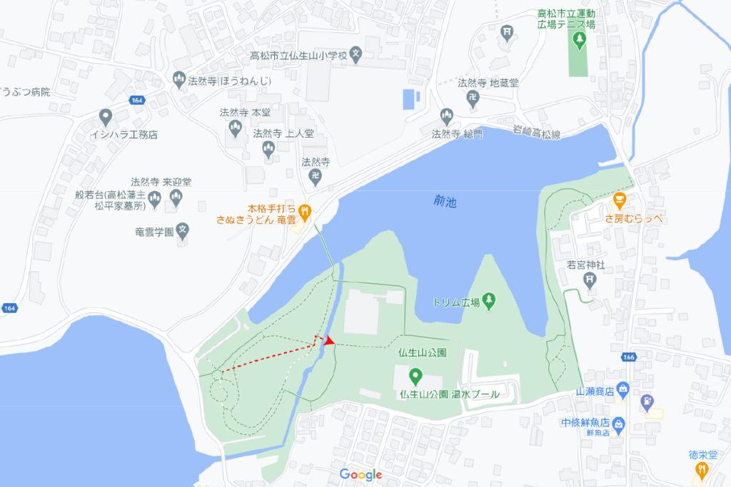 仏生山公園の地図