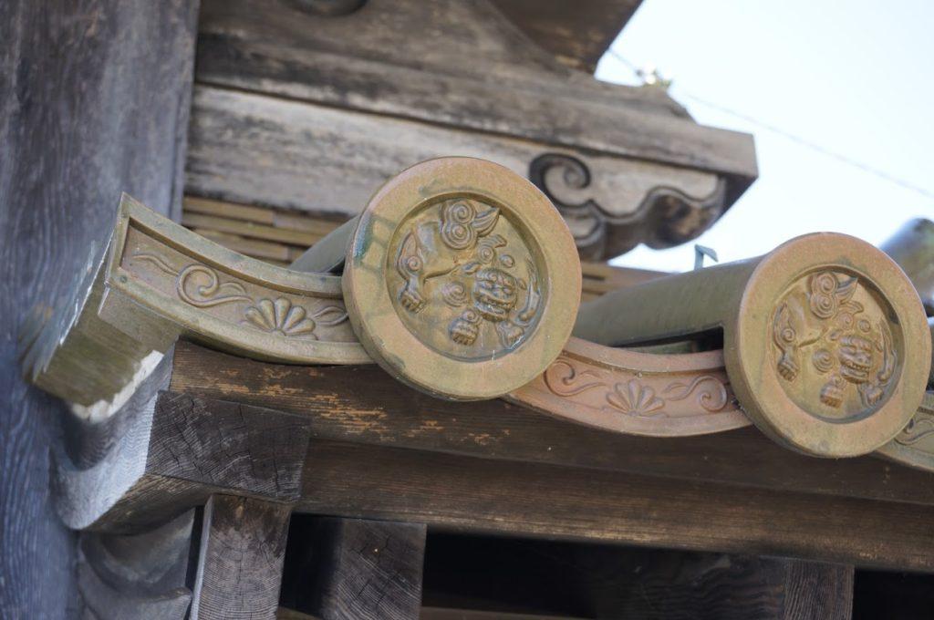 法然寺黒門の軒丸瓦