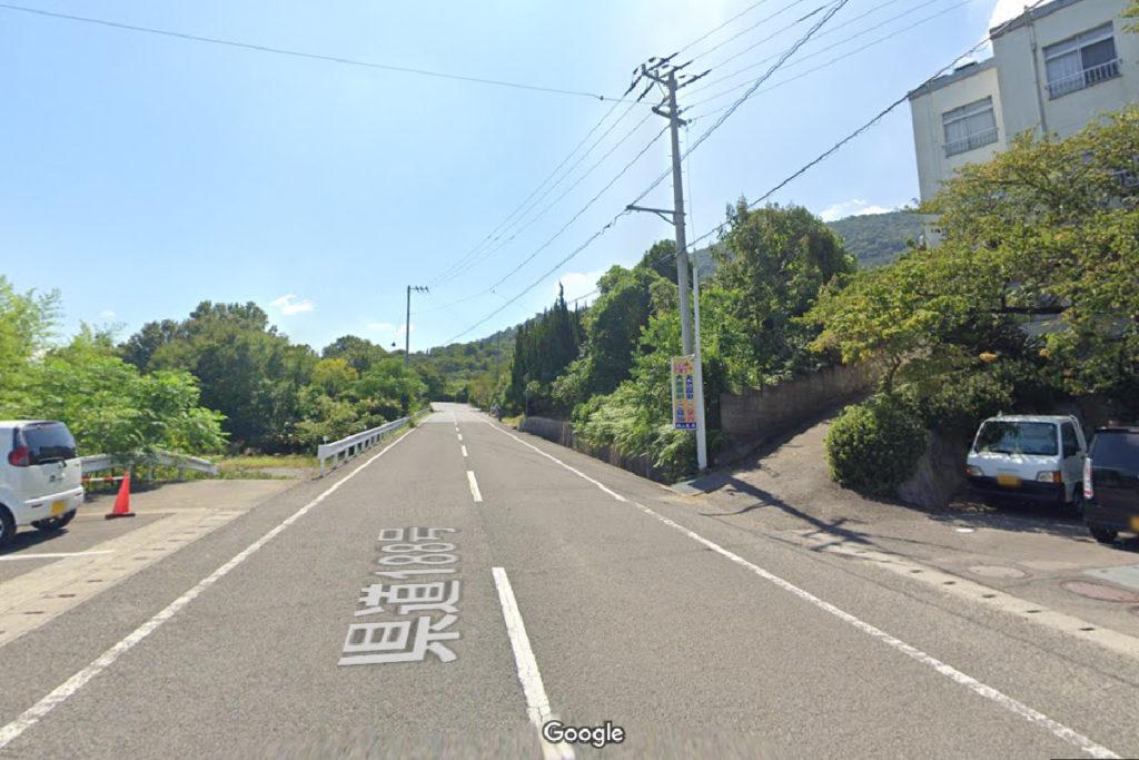 城山山頂までの県道