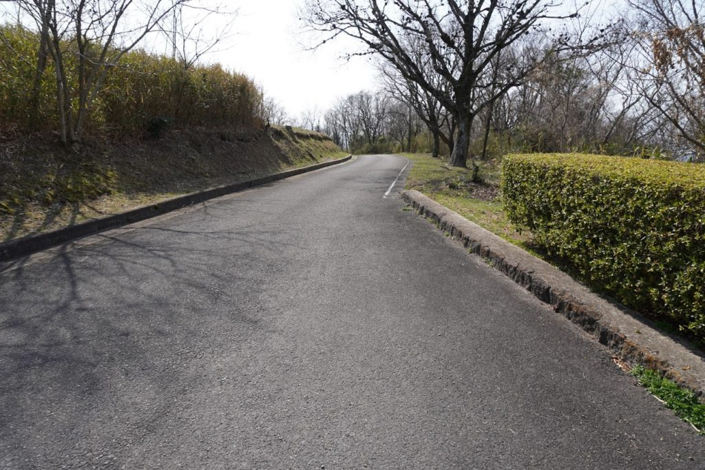 城山山頂への道